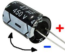 Где у электролитического конденсатора находится плюс, а где минус