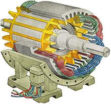устройство трехфазного двигателя электрического ассинхронного
