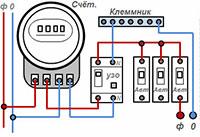схема подключения УЗО к щитку