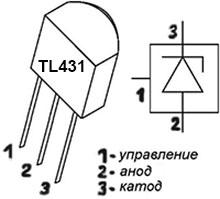 управляемый стабилитрон tl431 в схеме индикатора разляда литиевого аккумулятора
