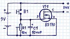 как сделать простое реле времени на транзисторе