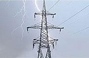 перенапряжение из-за удара молнии