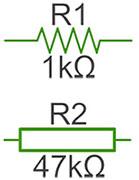 как электрическое сопротивление выглядит и обозначается на схеме