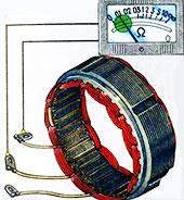 как измерить сопротивление обмотки катушки