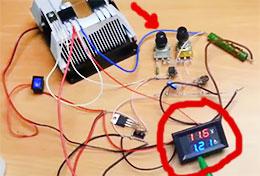 как изменяется сила тока и напряжение при проверке, тестировании блока