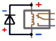 Для чего ставится диод параллельно катушке, обмотке реле в цепи постоянного тока