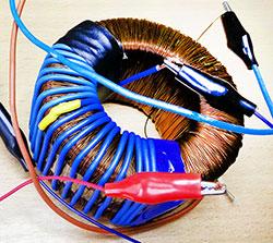 проверочные витки провода на трансформаторе с неизвестной первичной обмоткой